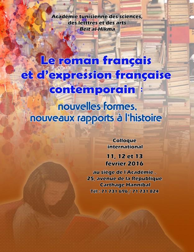Affiche colloque Roman français