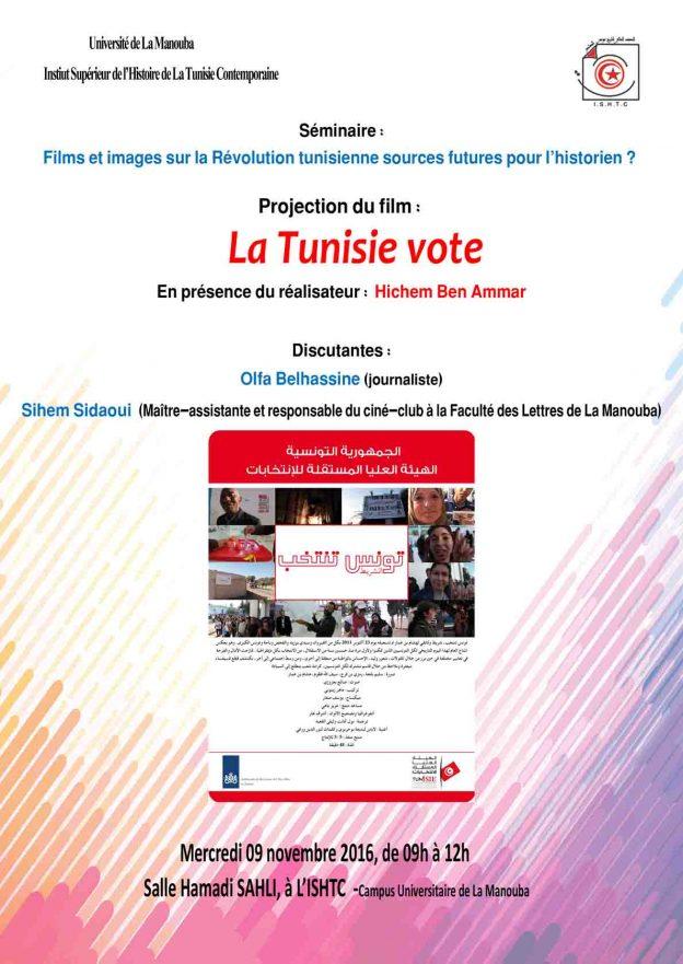 """Affiche du film """"La Tunisie vote"""""""